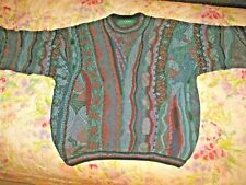 Vintage Tundra Canada Multi Color Sweater Mens Large Hip Hop Top Of The Line