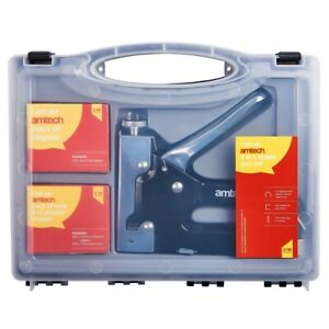 Heavy Duty Stapler Staple Gun with 600 Staples U Cable Upholstery Nail Joinery