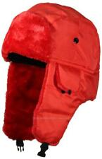 62626241239c05 Best Winter Hats Bright Flourescent Neon Hunter/Trapper Bomber Cap #182 Red