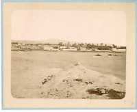 Geiser. Algérie, Vue sur un Village arabe  Vintage albumen print.  Tirage albu