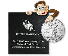 2016-P 100th Anniversary National Park Uncirculated Silver Dollar
