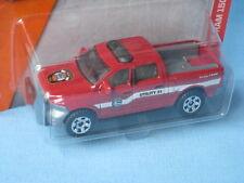 Matchbox Ram 1500 Pick-up rojo fuego de rescate de juguete modelo de coche 75 mm de largo