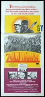 ZULU DAWN Original Daybill Movie poster Burt Lancaster Simon Ward Bob Hoskins