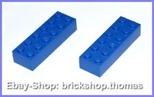 Lego 2 x Basic Steine blau (6 x 2) - 2456 - Brick Blue - NEU / NEW