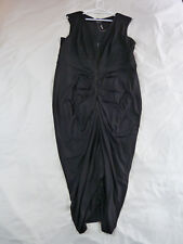 CITY CHIC M 18 NWT RRP $119.95 DRESS SEXY DRAPE BLACK LONG