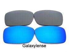 Galaxy Replacement Lenses For Oakley Crankcase Blue&Titanium Polarized 2 Pairs