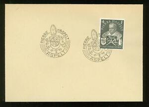 Luxembourg B08 FDC 1953 1v P v Aspelt Coat of Arms CV 65 eur