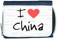 I Love Heart China Denim Wallet