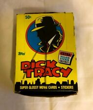 1990 Topps Dick Tracy Movie Trading Cards Wax Box 36 Packs Madonna Warren Beatty