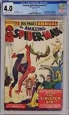AMAZING SPIDER-MAN ANNUAL #1 CGC 4.0 1ST SINISTER SIX
