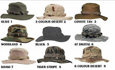 BOONIE HAT US ARMY RIPSTOP COMBAT FISHING JUNGLE CAMO SUN HATS BOONIES HATS