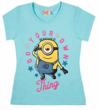 Boys Girls Kids Children Teenage Minions T-shirt Top Age 6 - 12 Years 116-152cm
