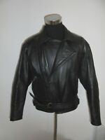 vintage 90s POLO Motorradjacke Leder Bikerjacke leather motorcycle jacket 54/L