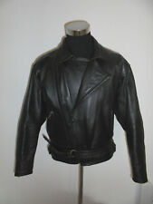 Vintage 90s Polo Biker Jacket Leather Bikerjacke Leather Motorcycle Jacket 54/L