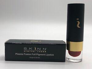 SKINN Cosmetics Plasma Fusion Full Pigment Lipstick in Rusted Red NIB