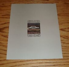 Original 1985 Saab Full Line Foldout Sales Brochure 85 Turbo 900S 900