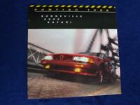 PONTIAC SALES BROCHURE LARGE 1988 BONNEVILLE 6000 SAFARI FACTS & FIGURES GM