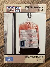 �� Desert Storm 1991 Donating Blood Military Pro Set Card �