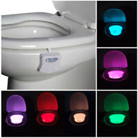 8 Colors Human Motion Sensor Automatic LED Light Toilet Seats Bowl Bathroom Lamp