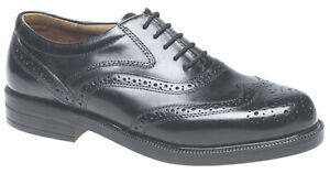 Mens Leather Foam Padded Vamp Lace Up Brogues Wedding Smart Formal Shoes Size
