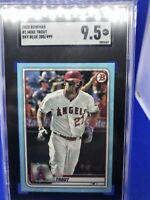2020 Bowman Mike Trout Sky Blue Sp /499 Sgc 9.5 Mint Plus Rare Low Pop
