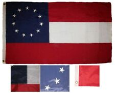 3x5 Embroidered 11 Stars and Bars 1st National 210D Sewn Nylon Flag 3x5 Banner
