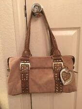Kathy Van Zeeland Tan Shoulder Handbag