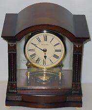 BULOVA - BARDWEL - CONTEMPORARY MANTEL CLOCK  WOOD CASE/HIGH GLOSS FINISH  B1987