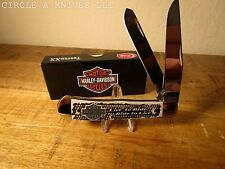 CASE XX KNIFE - HARLEY-DAVIDSON NATURAL BONE TRAPPER  -  ITEM #52173