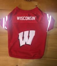 University of Wisconsin Badgers Dog Jersey/Shirt Size Small - Free Shipping!