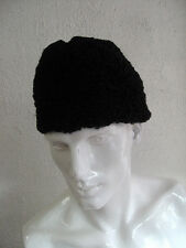 REFURBISHED NEW BLACK PERSIAN LAMB FUR HAT FOR MEN MAN