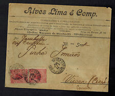 1906 Pernambuco Brazil commercial  Advertizing cover to Vicoza See back!