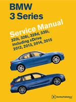 Bmw 3 Series 320I 328I 328D 335I Service Repair Shop Manual Book 2012-2015