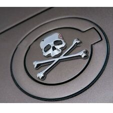 Quality Off Road Body Fenders Chrome Metal 3D Skull Head Emblem Sticker Badge
