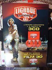 LIGABUE  CAMPO VOLO REGGIO EMILIA 2011  CARTONATO PUBBLICITARIO  97 X 67 CM