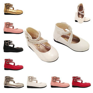 Girls Baby Infant Wedding Bridesmaid Fancy Party Shoes Size 3-7