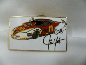 McDonald's Jim Yates Pro Stock NHRA Race Car Hat Enamel Gold Color Pin