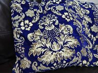 Luxury Velvet Designer Floral Damask Scatter Cushion Covers Cover Faux Fur Sofa