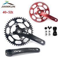 IXF 170mm Crank Arm 104bcd MTB Bike Crankset Narrow Wide Chainring BB 40-52T