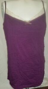 Victoria's Secret Modal lace cami sleep shirt in grape large