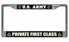 U.S. Army Private First Class License Plate Frame