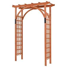 Outdoor Premium Wooden Cedar Arbor Arch Pergola Trellis Garden Yard Lattice Wood