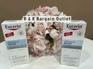 2 ~ Eucerin Redness Relief Day Lotion - Broad Spectrum SPF 15  10/2020 & 6/20