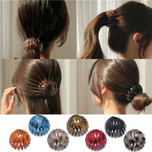 New Bird Nest Hair Clips Hair Claw Clamps Bun Makers Expandable Ponytail Holder