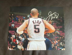 Jason Kidd Signed Autographed 11x14 Photo New Jersey Nets