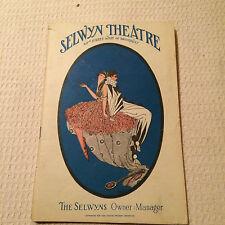PROGRAM SELWYN THEATRE NY BEATRICE LILLIE BOOK,LYRICS,MUSIC, NOEL CAWARD,1929