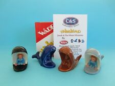 SPECTACULAR WADE SET OF JONAH & THE WHALE WHIMSIES DISCONTINUED `MINT`