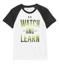 Under Armour Boys White Watch And Learn Dry Fit Top Size 5 6