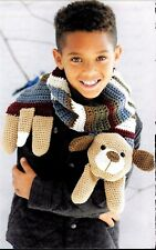 MONTE THE DOG CHILD'S  ANIMAL SCARF - CROCHET PATTERN