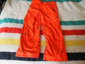 THE NORTH FACE Cryptic Recco Orange Hyvent Ski Snowboard Cinch Pants Mens M EUC
